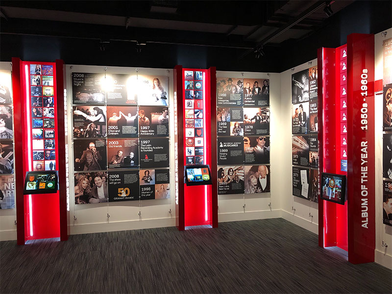 Grammy Museum display by Temeka Group