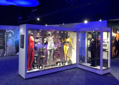 Whitney Houston museum display created by Temeka Group