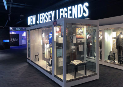 New Jersey Legends museum glass display created by Temeka Group