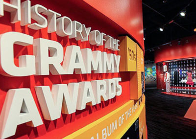 History of the Grammy Awards signage created by Temeka Group