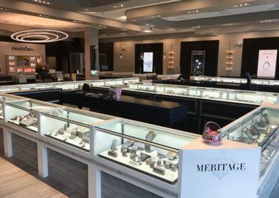 Pandora / Meritage Jewelers retail store design by Temeka Group