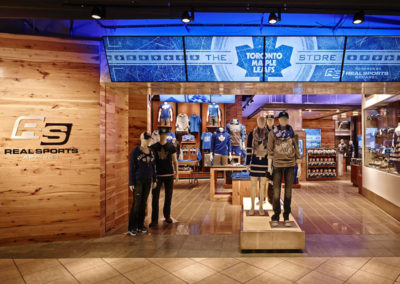 Toronto Maple Leafs Team Store retail display by Temeka Group